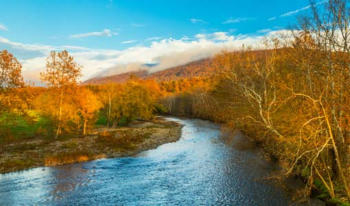 Jackson River in fall
