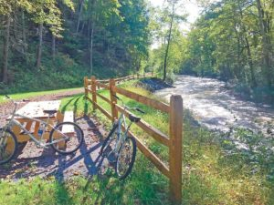 bikes on the Jackson River Scenic Trail