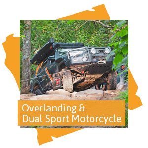 Overlanding and Dual Sport Motorcycle